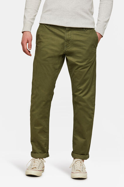 CHINO REGULAR TAPERED HOMME Vert armee