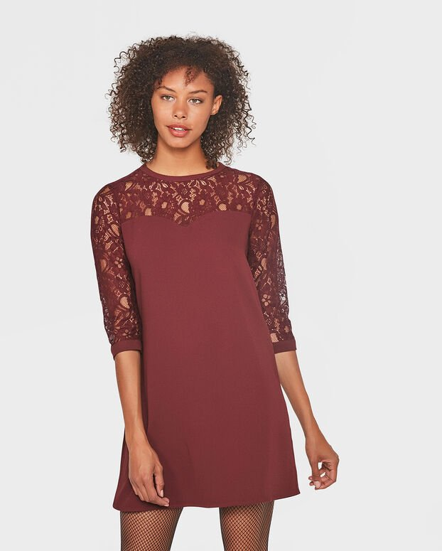 ROBE LACE FEMME Rouge