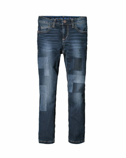 JONGENS SKINNY FIT POWER STRETCH JEANS Donkerblauw