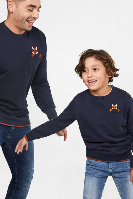 Mini me: sweater met vosdessin
