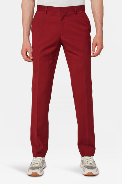 PANTALON SLIM FIT HOMME DALI Rouge