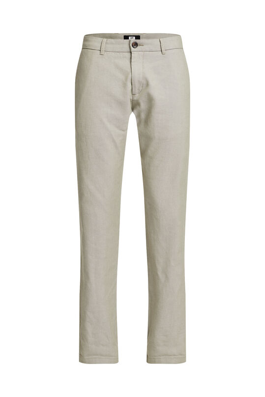 Heren Oxford chino met stretch Olijfgroen