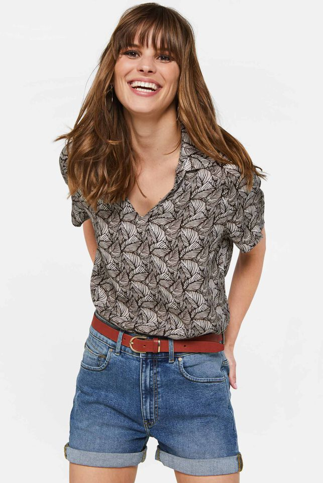 Dames blouse met dessin All-over print