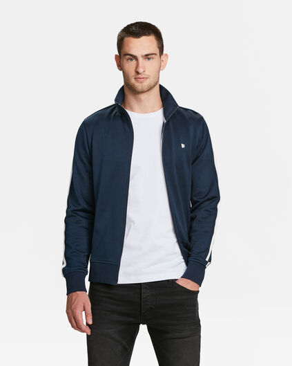 HEREN SPORTY BOMBER SWEATVEST Marineblauw