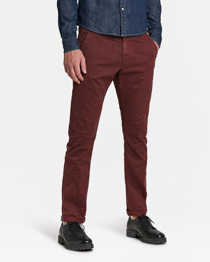 HEREN SLIM TAPERED CHINO Bordeauxrood
