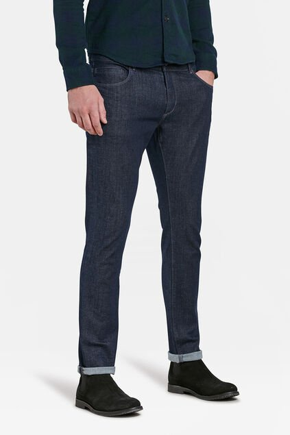 HEREN SLIM TAPERED SUPERSTRETCH JEANS Blauw