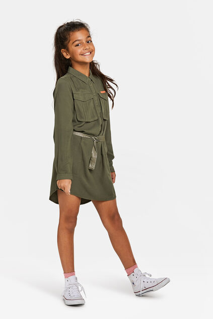 Robe militaire fille Vert armee