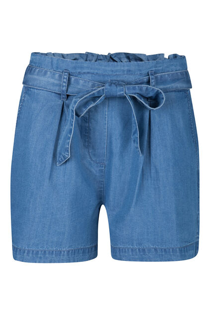 Dames high waist denim short Blauw