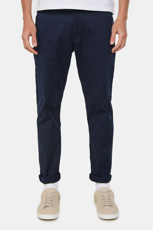Heren slim fit chino met stretch Donkerblauw