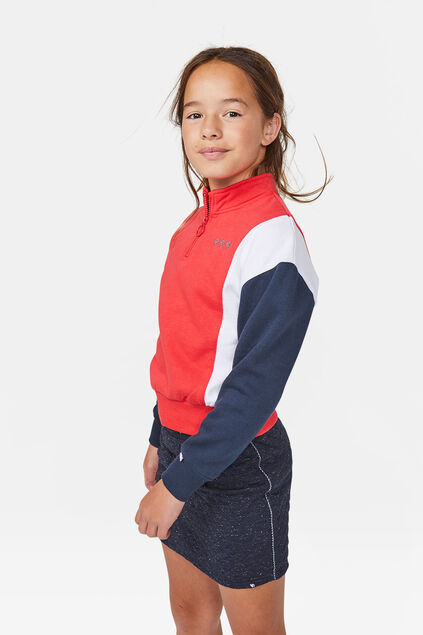 Sweat-shirt bloc de couleur fille Rouge vif
