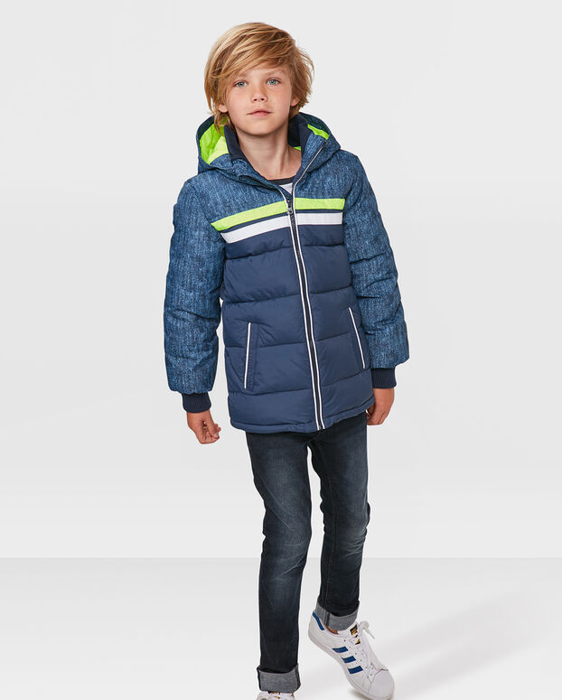 JONGENS DENIM LOOK JAS Blauw