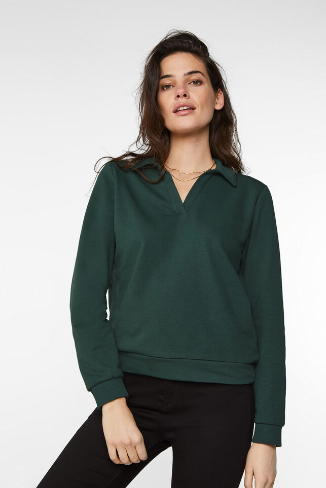 Dames polosweater Groen