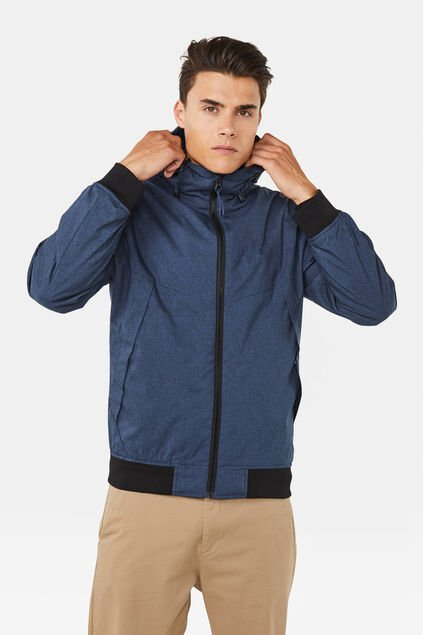 Heren softshell jack Marineblauw