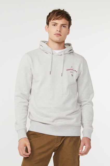 Sweat-shirt à capuchon Blue Ridge homme Gris clair mêlé