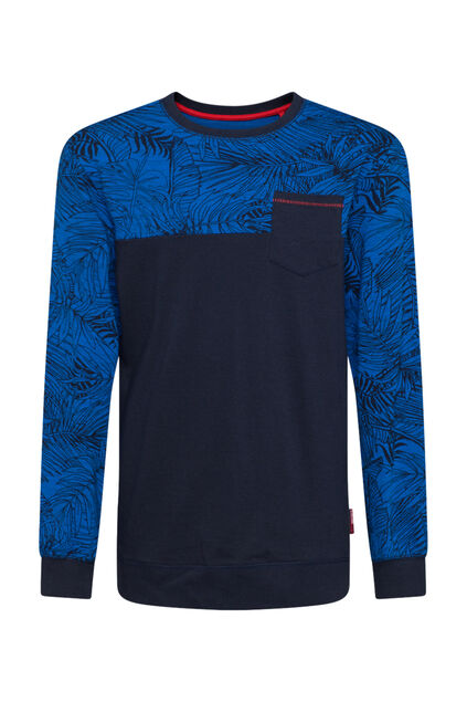Jongens colourblock T-shirt Donkerblauw