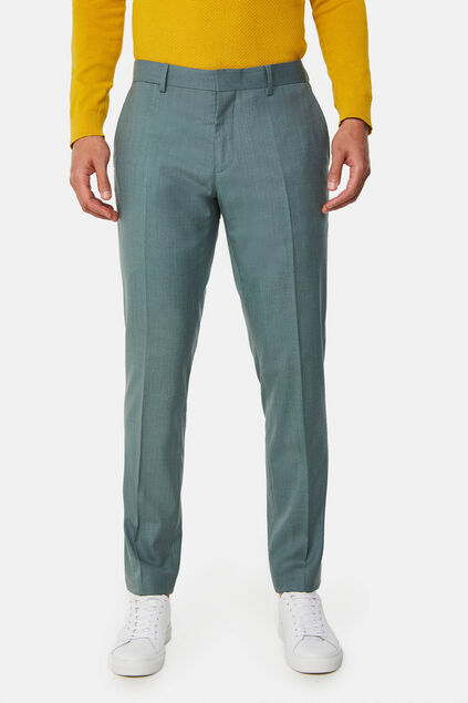 Pantalon slim fit stretch Dali homme Vert gris