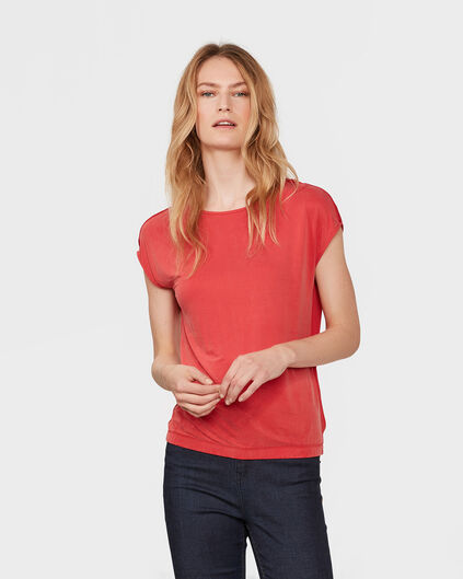 DAMES CONTRAST FRONT TOP Donkerrood