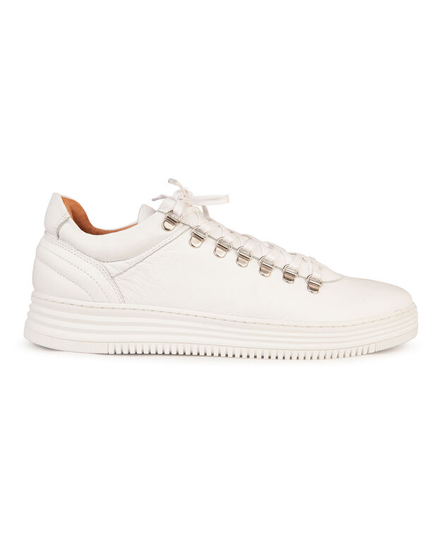 TENNIS REAL LEATHER HOMME Gris clair