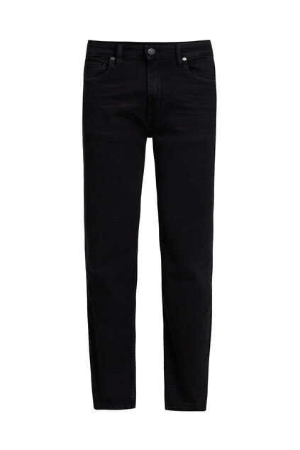 Heren relaxed super stretch jeans Zwart