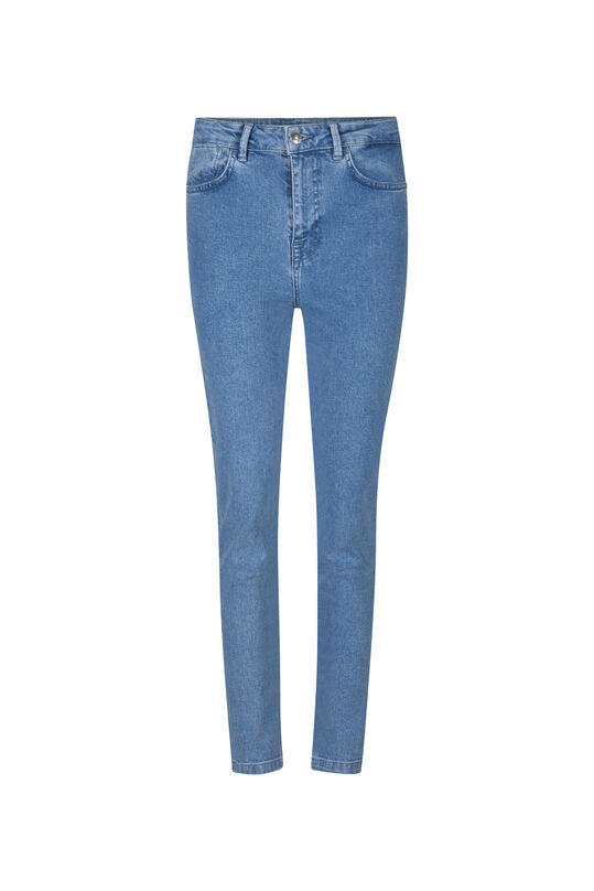 DAMES HIGH RISE SLIM JEANS Lichtblauw