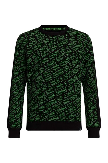 Jongens capuchonsweater met opdruk All-over print