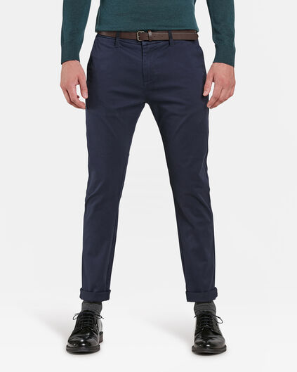 HEREN SLIM FIT CHINO Donkerblauw
