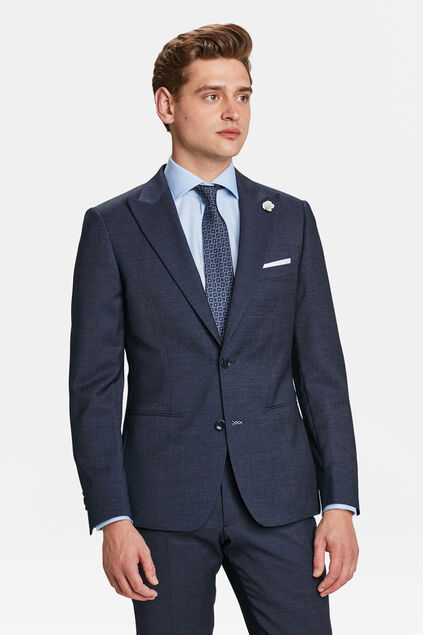 HEREN SLIM FIT BLAZER BALHAM Marineblauw
