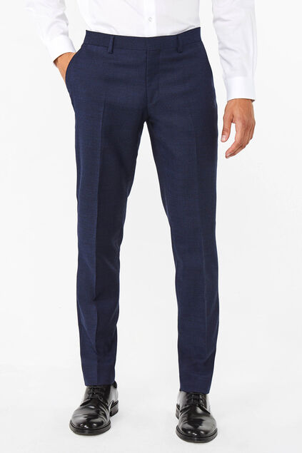 Heren regular fit pantalon Merrill Marineblauw