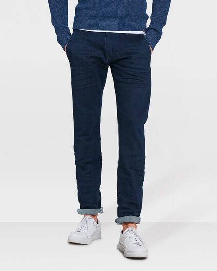 HEREN SLIM TAPERED COMFORT STRETCH CHINO Donkerblauw