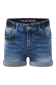 Short denim fille_Short denim fille, Bleu foncé