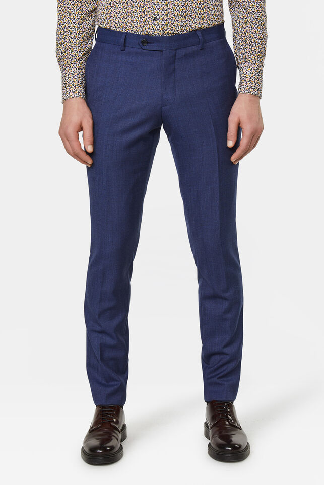 Heren Slim fit pantalon Matera Blauw