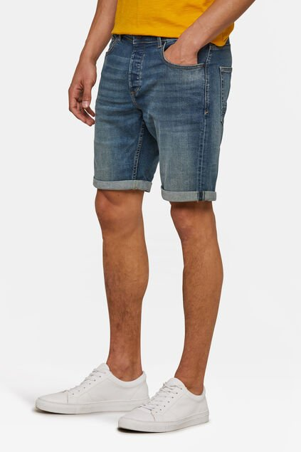 Heren regular fit short Blauw
