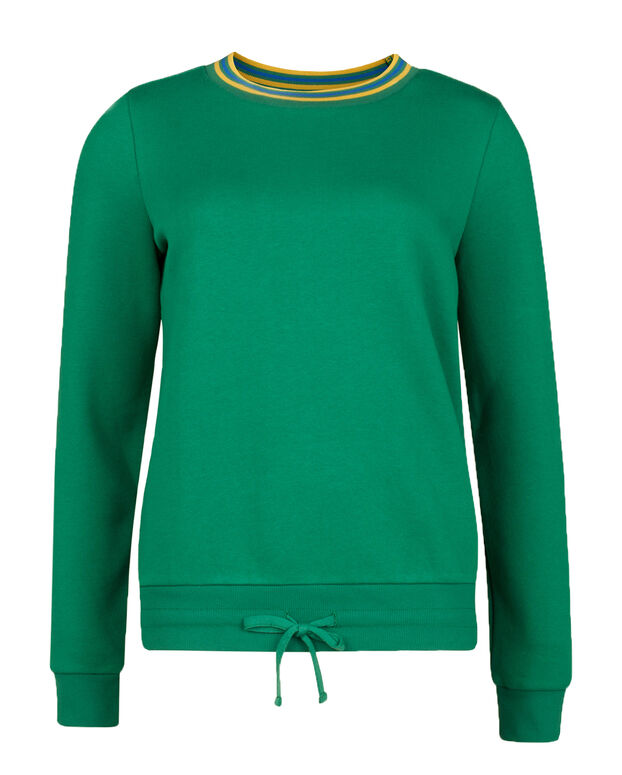 SWEAT-SHIRT STRIPE DETAIL FEMME Vert