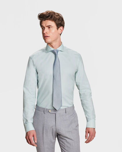HEREN SLIM FIT OVERHEMD Mintgroen