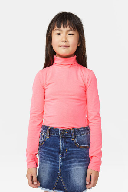 Top fluo fille Rose