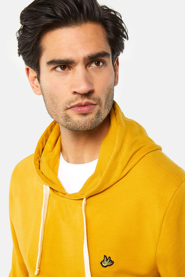Sweat-shirt à capuchon homme Jaune moutarde