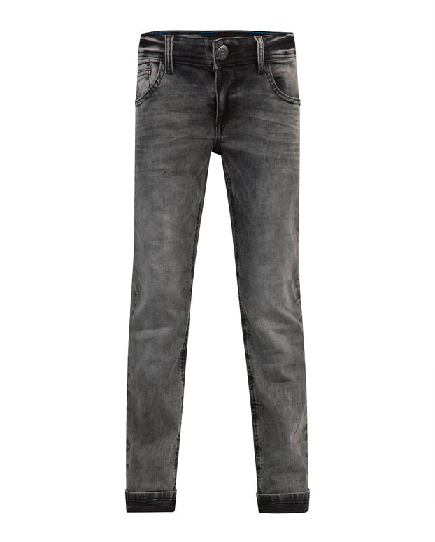 JONGENS REGULAR STRAIGHT POWER STRETCH JEANS Donkergrijs