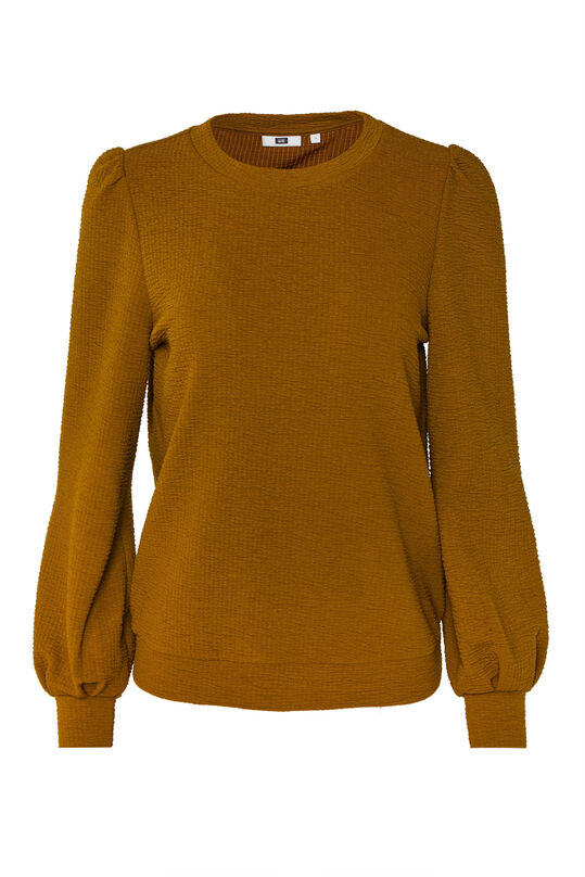 Sweat-shirt à structure femme Jaune moutarde