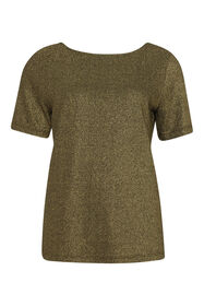 Dames lurex top_Dames lurex top, Goud