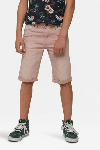 Jongens denim short Lichtroze