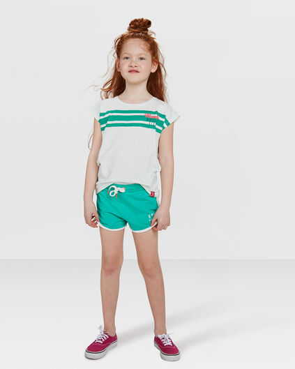 SHORT SWEAT PRINTED REGULAR FIT FILLE Vert vif