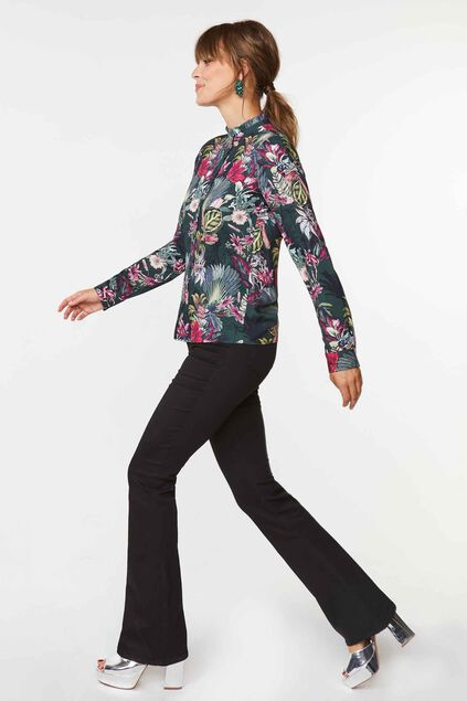 Dames bloemendessin blouse All-over print