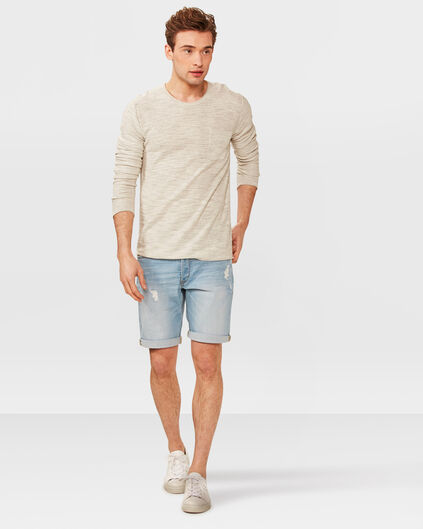 HEREN REGULAR SLIM DENIM SHORT Lichtblauw