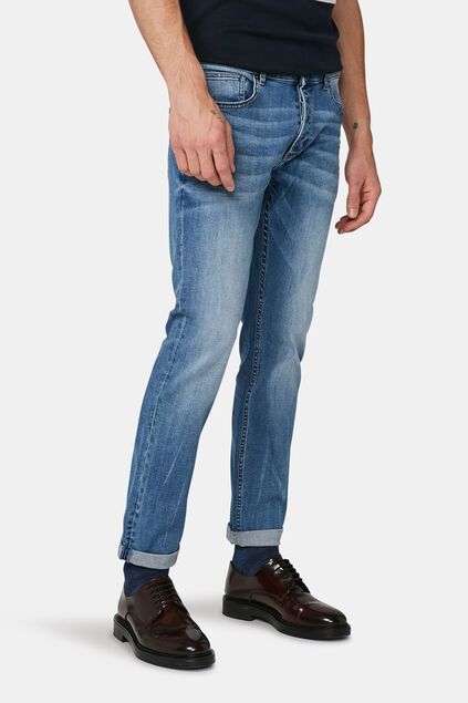 Heren Slim tapered comfort stretch jeans Lichtblauw