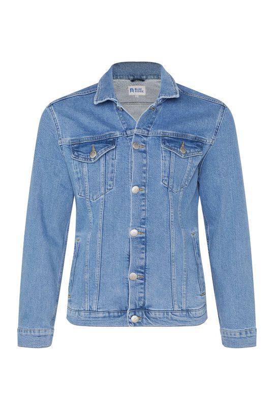 Heren denim jacket Lichtblauw