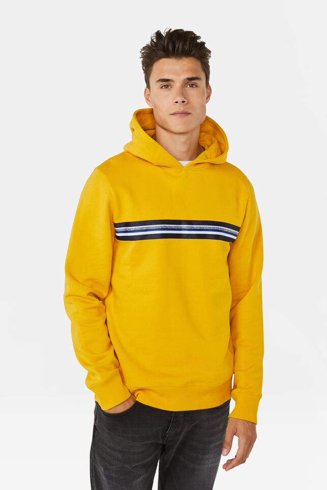 Sweat-shirt à capuchon homme Jaune