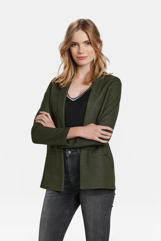 DAMES REGULAR FIT MELANGE BLAZER Legergroen