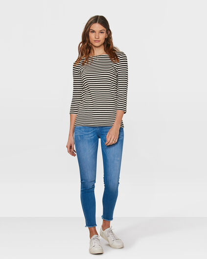 DAMES MID RISE SKINNY HIGH STRETCH CROPPED JEANS Felblauw