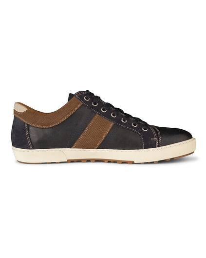 HEREN REAL LEATHER SNEAKER SCHOENEN Donkerblauw