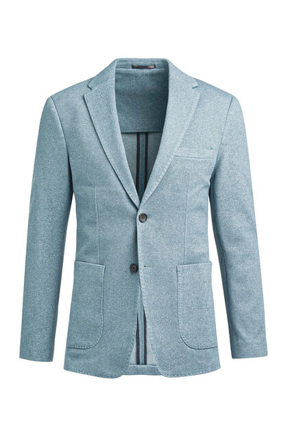 Heren slim fit blazer Grijsgroen